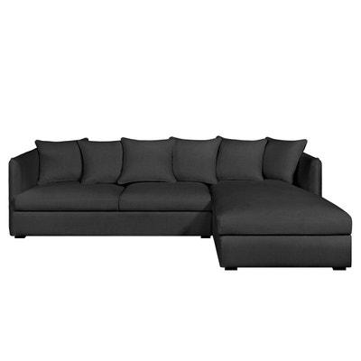 Canapé d'angle fixe Neo Chiquito, coton/lin AM.PM