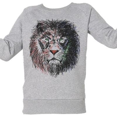 Sweat-shirt Imprimé Bio Enfant du 3 au 11 ans Cecil le lion ARTECITA 7a7689a47ef3