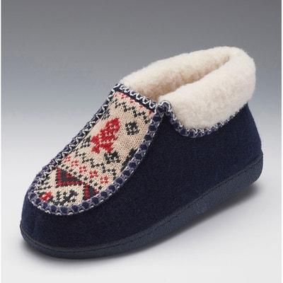 Pantofole, stile stivaletto, imbottite, dettaglio lavorazione a maglia Pantofole, stile stivaletto, imbottite, dettaglio lavorazione a maglia THERMOLACTYL BY DAMART