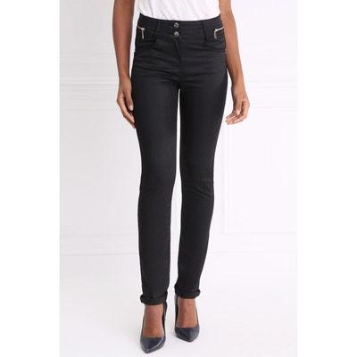 Pantalon taille haute ajusté enduit Pantalon taille haute ajusté enduit BREAL