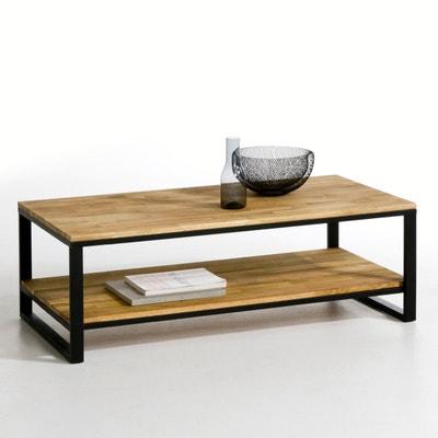 HIBA Solid Joined Oak and Steel 2-Tier Coffee Table HIBA Solid Joined Oak and Steel 2-Tier Coffee Table La Redoute Interieurs