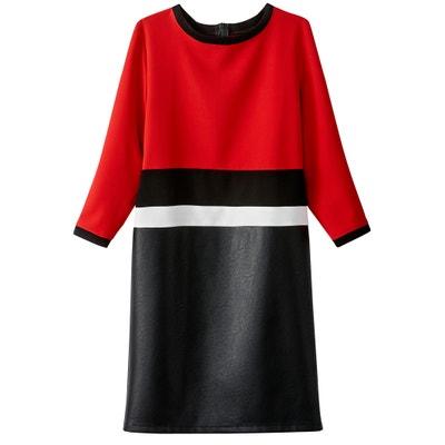 Платье прямое короткое, с рукавами 3/4 La Redoute Collections