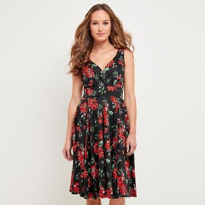 Kleid, A-Linie, Blumenmuster, halblang JOE BROWNS