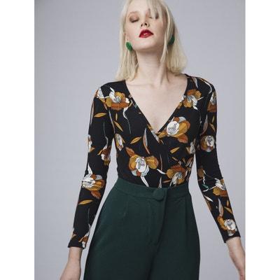 Body met wikkelshirt effect, bloemenprint Body met wikkelshirt effect, bloemenprint COMPANIA FANTASTICA