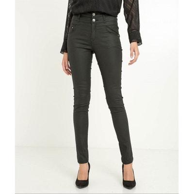 Pantalon enduit noir taille haute Pantalon enduit noir taille haute GRAIN DE MALICE