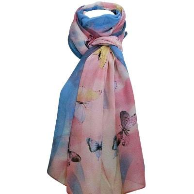 Grand foulard rosi papillons CHAPEAU-TENDANCE 27828fb26c9
