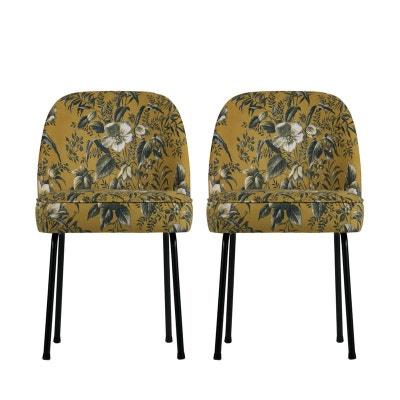 Lot de 2 chaises design en velours Vogue Lot de 2 chaises design en velours Vogue WOOOD