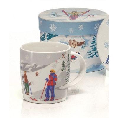 Lot de 6 Mugs vintage skieuses + boîte TABLE&COOK