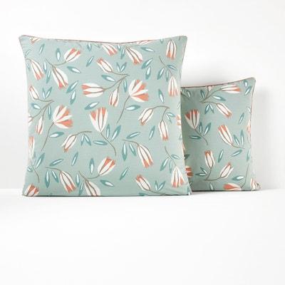 Funda de almohada de algodón lavado SATINE FLOWER Funda de almohada de algodón lavado SATINE FLOWER La Redoute Interieurs