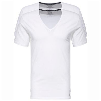 356773e8fe4a3 T-shirt coton, manches courtes, lot de 2 T-shirt coton,. Soldes