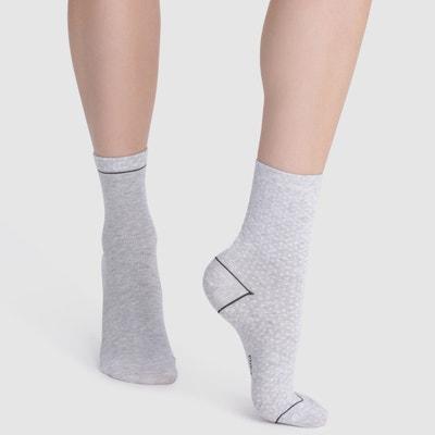 Pack of 2 Pairs of Mid-Calf Socks Pack of 2 Pairs of Mid-Calf Socks DIM