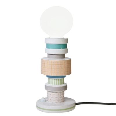 MORESQUE - Lampe à poser Céramique motifs vintage Squared H20cm SELETTI