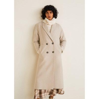 Manteau mi long laine femme en solde   La Redoute 190fa3a70159