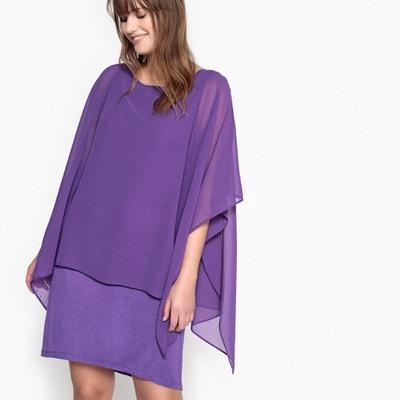 Dress with Voile Overlay Dress with Voile Overlay CASTALUNA