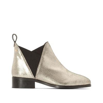 Boots chelsea en cuir métallisé La Redoute Collections