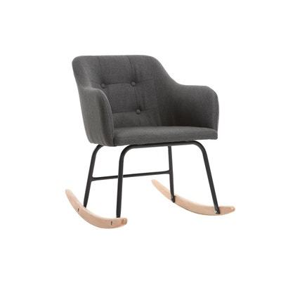 Fauteuil rocking chair design tissu BALTIK MILIBOO