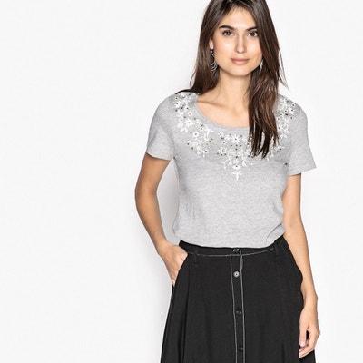 fa2d3ec3f1 Tee shirt brodé, manches courtes Tee shirt brodé, manches courtes ANNE  WEYBURN