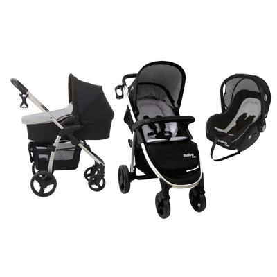 Combiné trio poussette - nacelle - siège auto Baby Fox Roma  II - Anthracite BABY FOX