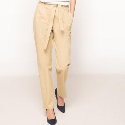 Pantalon droit avec ceinture à nouer Pantalon droit avec ceinture à nouer La Redoute Collections