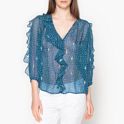 Blusa estampada em seda, MASHA BA&SH