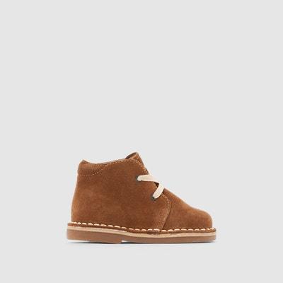Boots cuir à lacet - R essentiel - MarronLa Redoute kC4ror