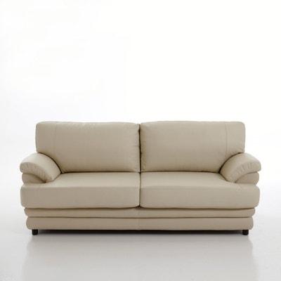 Canapé 2 ou 3 places, convertible confort excellence, cuir véritable, Newcastle La Redoute Interieurs