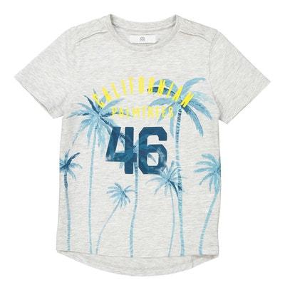 T-shirt rallongé avec motif