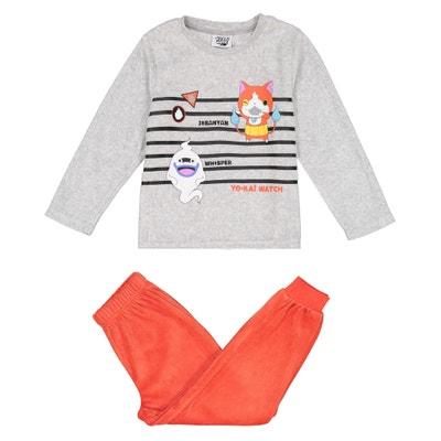Pyjama velours 5 - 12 ans Pyjama velours 5 - 12 ans YO KAI WATCH