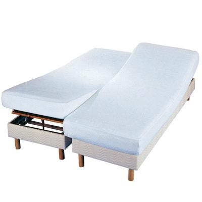 Protector de colchón doble de felpa antiácaros Protector de colchón doble de felpa antiácaros La Redoute Interieurs