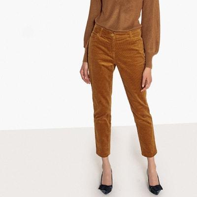 e9dca8a42ce9 Pantalon slim en velours uni Pantalon slim en velours uni La Redoute  Collections