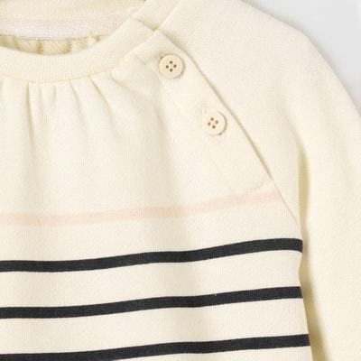 Gestreiftes Sweatshirt, 1 Monat - 3 Jahre, Oeko-Tex Gestreiftes Sweatshirt, 1 Monat - 3 Jahre, Oeko-Tex La Redoute Collections