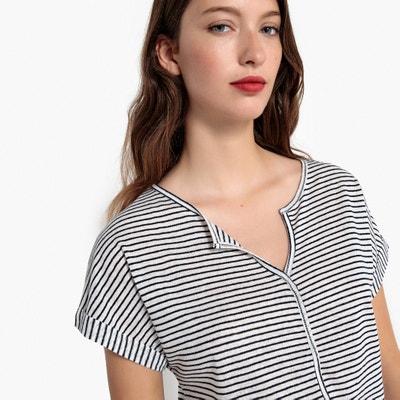 T-shirt con righe sottili maniche lunghe La Redoute Collections