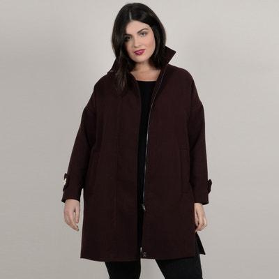 Langer Mantel mit Reissverschluss, verzierter Stehkragen Langer Mantel mit Reissverschluss, verzierter Stehkragen GABRIELLE