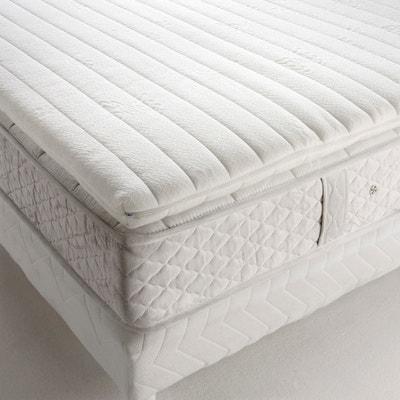 Surmatelas bi-confort, avec mousse à mémoire de forme + latex - déhoussable Surmatelas bi-confort, avec mousse à mémoire de forme + latex - déhoussable REVERIE