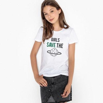 T-shirt long, imprimé 10-16 ans La Redoute Collections