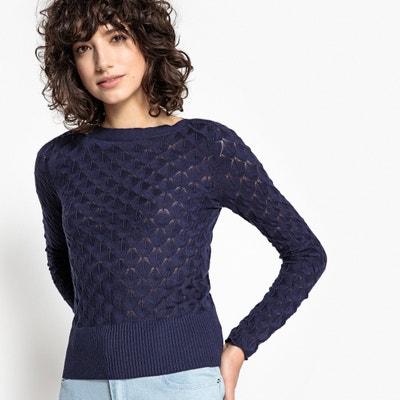 Trui in fijn fantasie tricot met boothals Trui in fijn fantasie tricot met boothals MADEMOISELLE R
