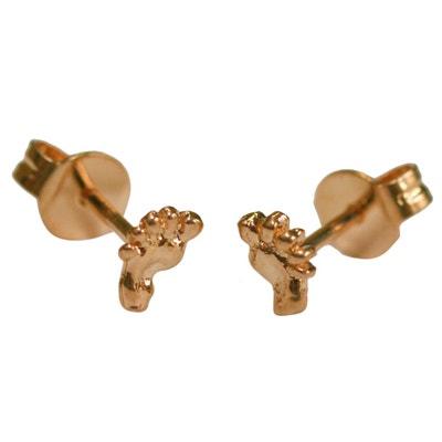 Boucles d'oreilles Petit Pied Plaqué Or 750 Boucles d'oreilles Petit Pied Plaqué Or 750 SO CHIC BIJOUX