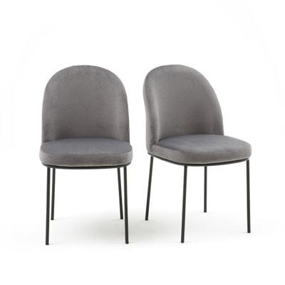 Confezione da2 sedie imbottite in velluto, TOPIM Confezione da2 sedie imbottite in velluto, TOPIM La Redoute Interieurs