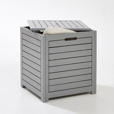 Arcón cuadrado, para almacenaje exterior, de acacia Arcón cuadrado, para almacenaje exterior, de acacia LES PETITS PRIX
