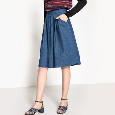 Denim Two Pocket Midi Skirt La Redoute Collections