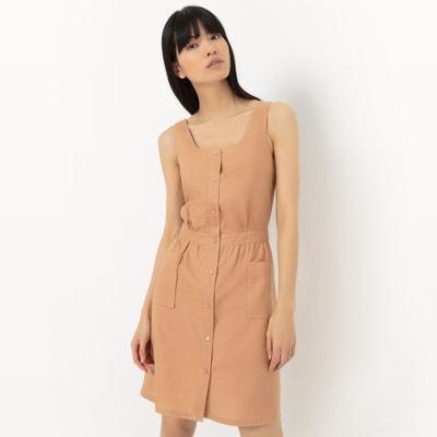 Cotton/Linen Pinafore Dress Cotton/Linen Pinafore Dress La Redoute Collections