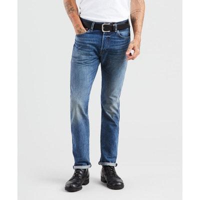Jeans homme gris coupe droite