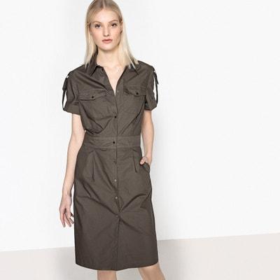 Straight Shirt Style Dress Straight Shirt Style Dress La Redoute Collections