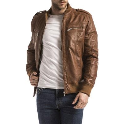 dd0982abb6957 Blouson, veste en cuir homme en solde   La Redoute