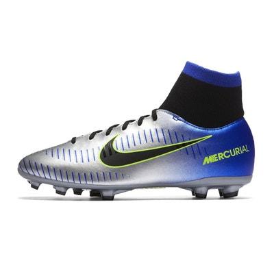 superior quality e5529 7c70e Chaussures football Nike Neymar Mercurial Victory VI DF FG GrisBleu Junior  NIKE