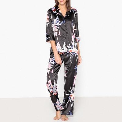 Pyjama en satin, imprimé fleuri Pyjama en satin, imprimé fleuri La Redoute Collections