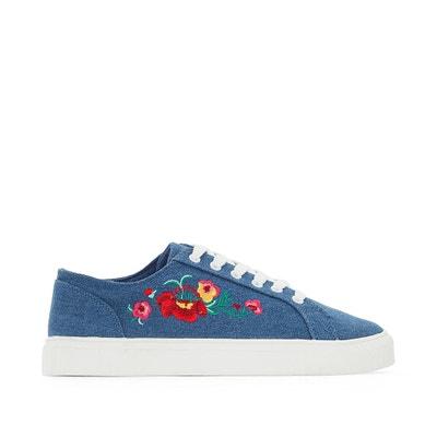Sneakers mit Blumenstickereien, Modell für breite Füsse, Gr. 38-45 CASTALUNA