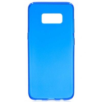 Coque Souple Pour Galaxy S8 Bleu invisible Ultra-fine Coque Souple Pour  Galaxy S8 Bleu. Black Friday. AMAHOUSSE 572967d024f