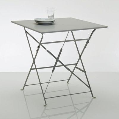 Ozevan Square Metal Folding Table La Redoute Interieurs