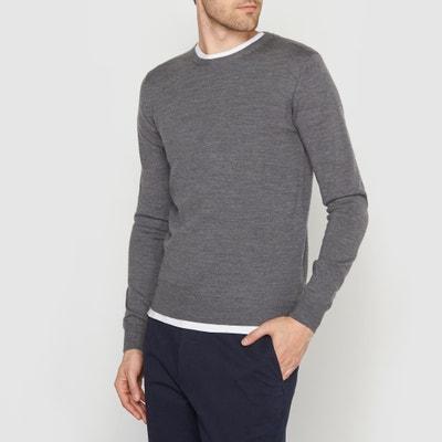 Jersey cuello redondo 100% lana merina La Redoute Collections